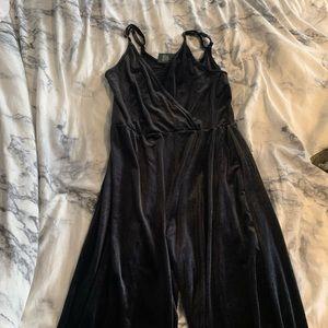 Black velour jumpsuit